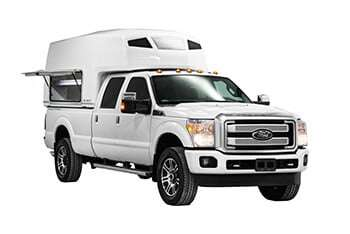 Ford F-250 with Diablo and sidedoor open