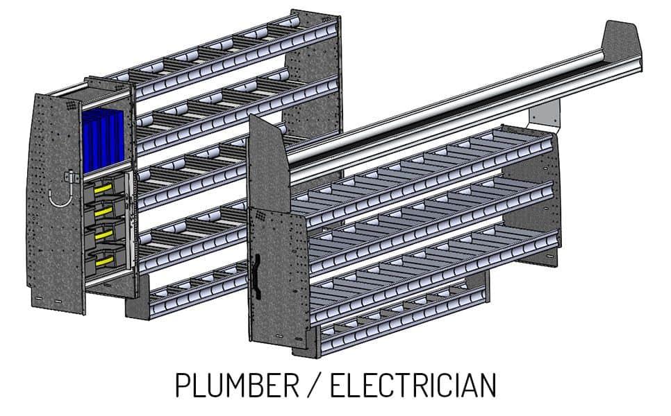 Plumber, Eletrician Shelving Option for the Diablo