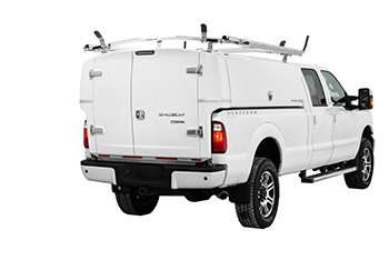 Ford F-350 with Compak - Door closed - Rear view